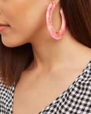 Kennedy Carnation Hoops, PINK/YELLOW, hi-res
