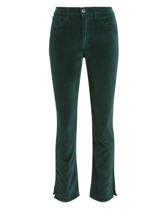 W3 Velvet Higher Ground Jeans, GREEN, hi-res