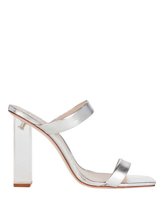 Saira Metallic Sandals, SILVER, hi-res