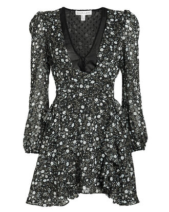 Jarrett Tie Front Floral Dress, MULTI, hi-res