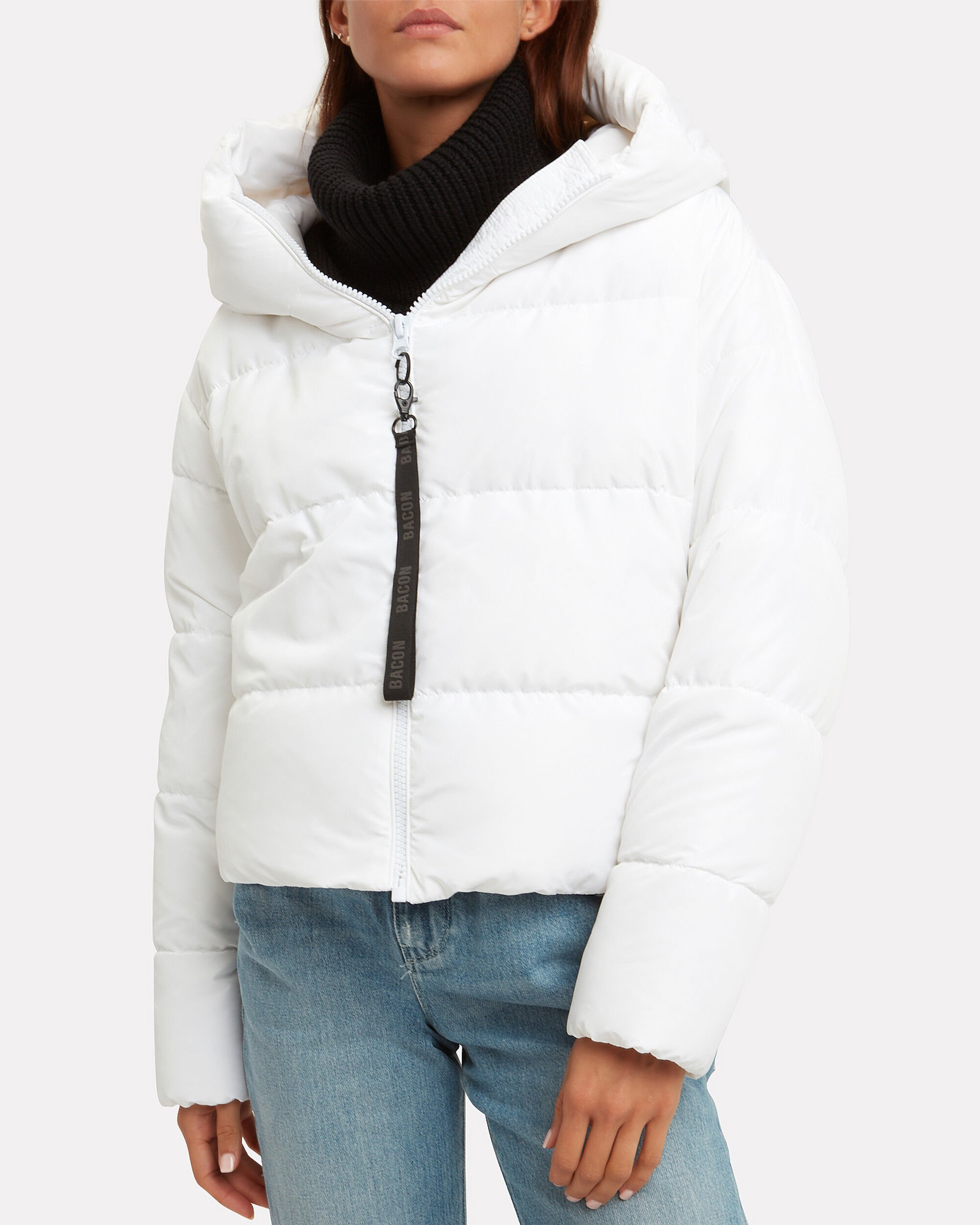 Cloud White Puffer Jacket, WHITE, hi-res