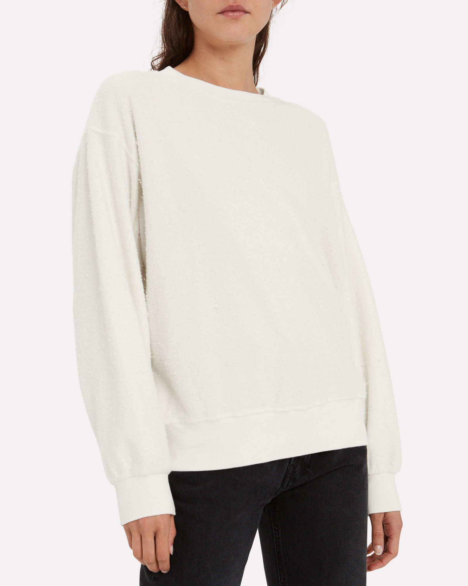 Lou Inside Out Terry Sweatshirt, CREAM, hi-res