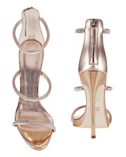 Coline Strappy Crystal Sandals, METALLIC, hi-res