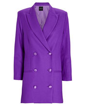 The Double-Breasted Wool Blazer, PURPLE, hi-res