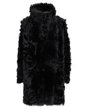 Reversible Shearling Coat, BLACK, hi-res