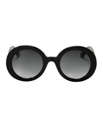Black Round Sunglasses, BLACK, hi-res