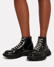 Tread Lace-Up Leather Boots, BLACK, hi-res