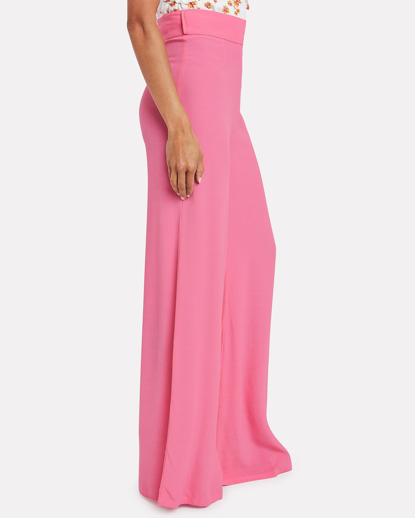 Murray Wide Leg Trousers, PEONY PINK, hi-res