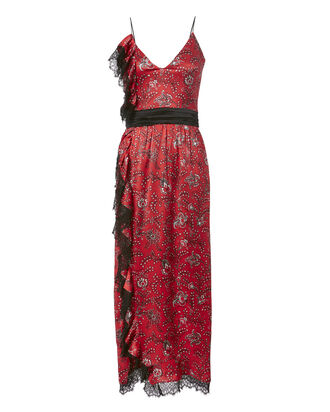 Petra Floral Silk Midi Dress, PRINT, hi-res