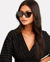Soft Narrow Cat Eye Sunglasses, BLACK, hi-res