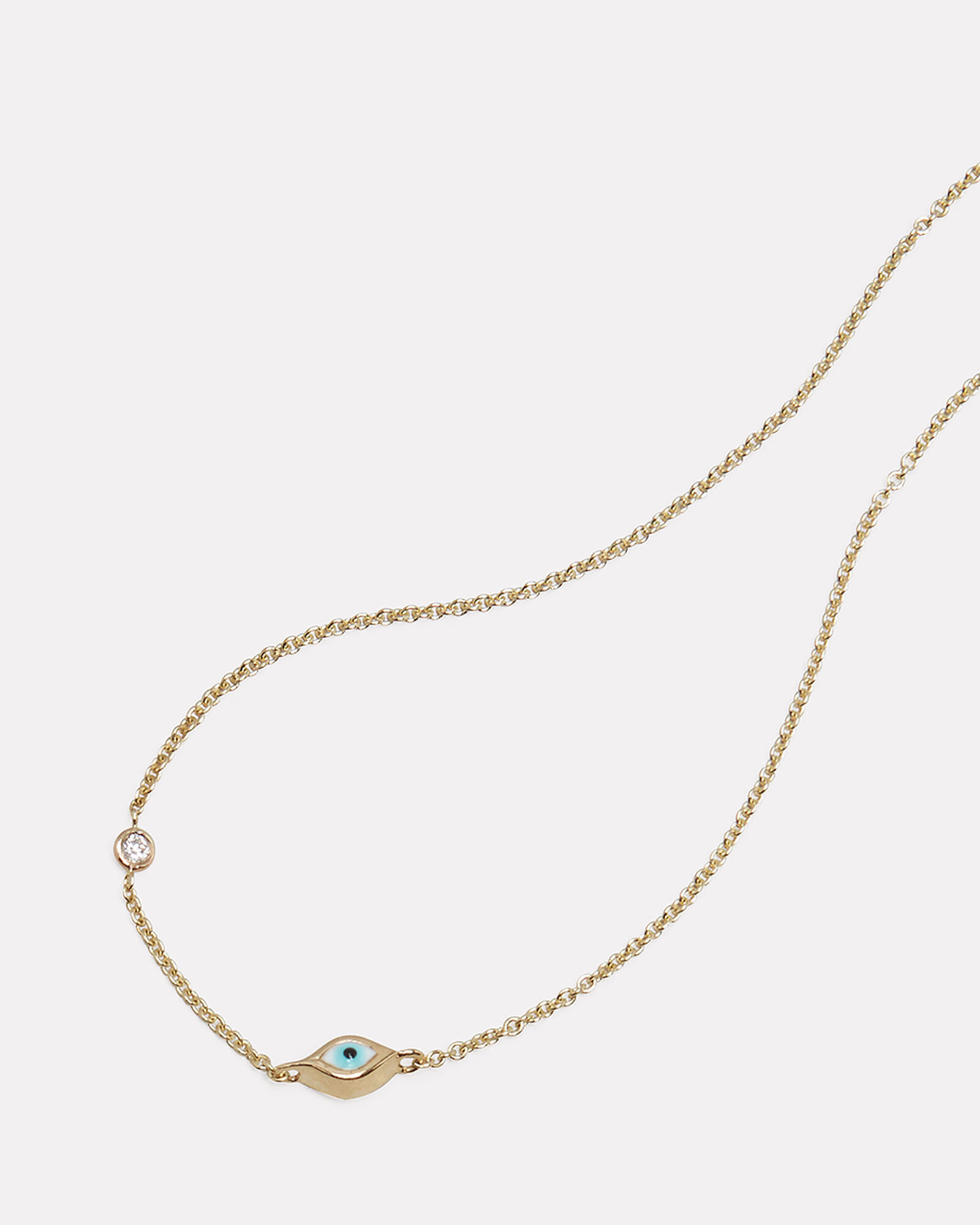 Mini Evil Eye Necklace, METALLIC, hi-res