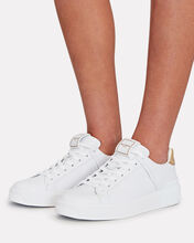 B-Court Leather Sneakers, WHITE, hi-res