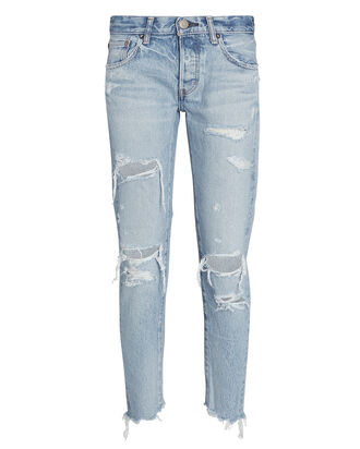 Creston Distressed Tapered Jeans, , hi-res