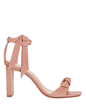 Clarita 85 Leather Sandals, PINK, hi-res