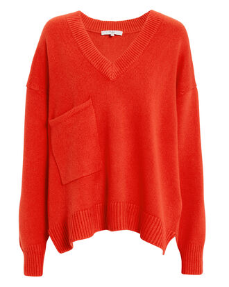 Patch Pocket Pullover, RED, hi-res