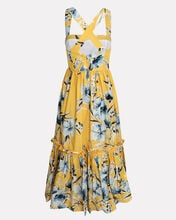 Julia Floral Cotton Midi Dress, YELLOW/FLORAL, hi-res