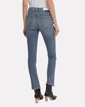Double Needle Stretch Jeans, DENIM, hi-res