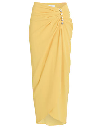 Alexia Crepe Sarong Skirt, YELLOW, hi-res