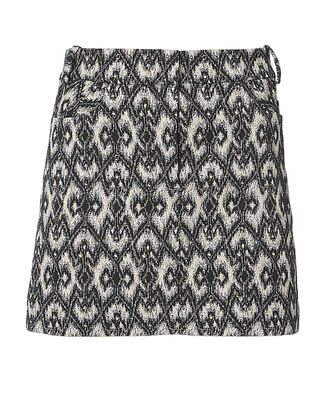 Printed Mini Skirt, BLK/WHT, hi-res