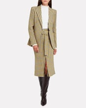 Checked Wool-Blend Blazer, YELLOW, hi-res