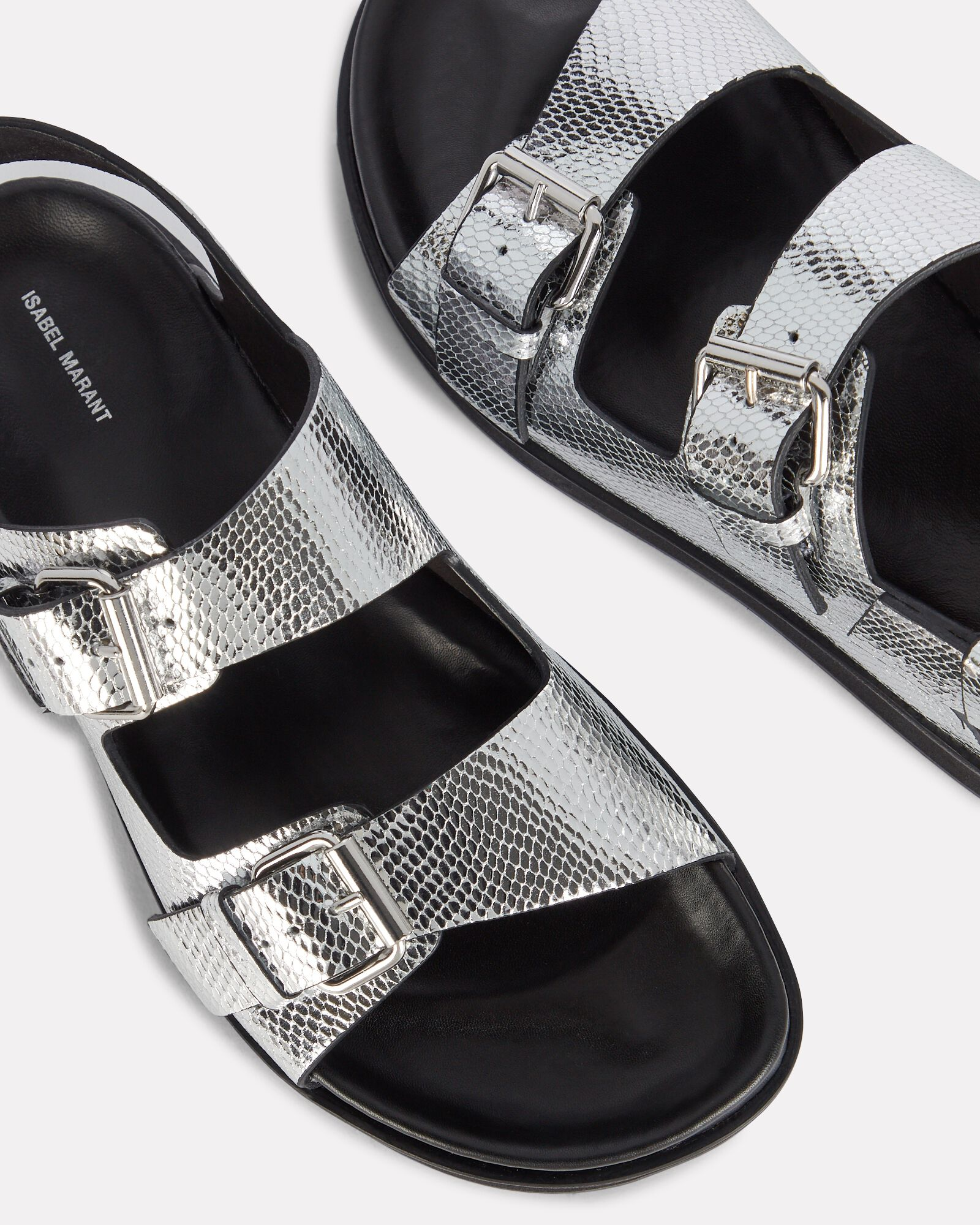 Ophie Metallic Leather Slingback Sandals, SILVER, hi-res