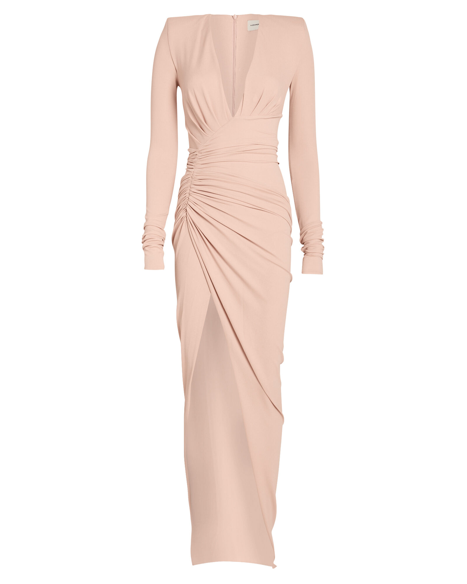 Draped V-Neck Jersey Gown, PINK, hi-res