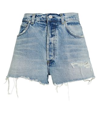 Kaia Denim Cut-Off Shorts, MURMUR, hi-res