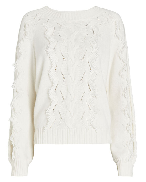 Rails RAILS FRANCIS FRINGED CABLE KNIT SWEATER