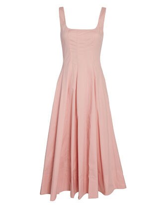 Wells Poplin Midi Dress, PINK, hi-res
