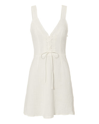 Carmen Mini Dress, WHITE, hi-res
