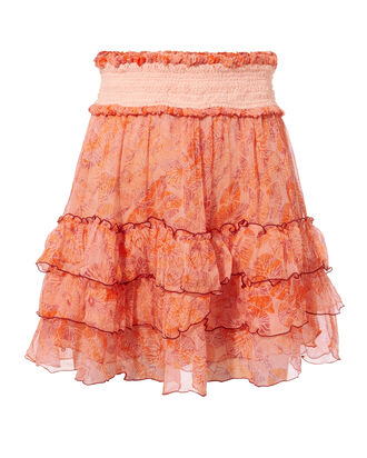 Isma Ruffle Mini Skirt, PINK, hi-res