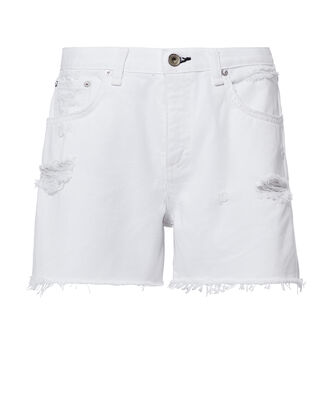 Distressed Boy Shorts, WHITE, hi-res