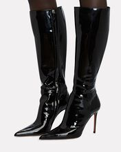 Malvina Knee-High Patent Leather Boots, BLACK, hi-res