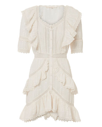 Lela Ruffle Dress, IVORY, hi-res