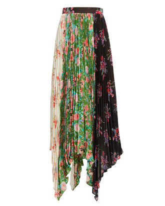 Mica Floral Midi Skirt, BLACK/GREEN/FLORAL, hi-res
