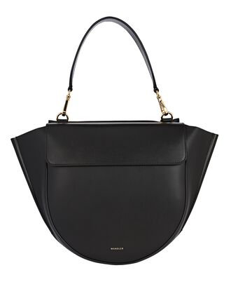 Hortensia Medium Leather Bag, BLACK, hi-res