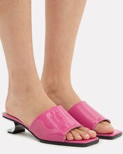 Sarah Metal Cut-Out Pink Sandals, PINK, hi-res