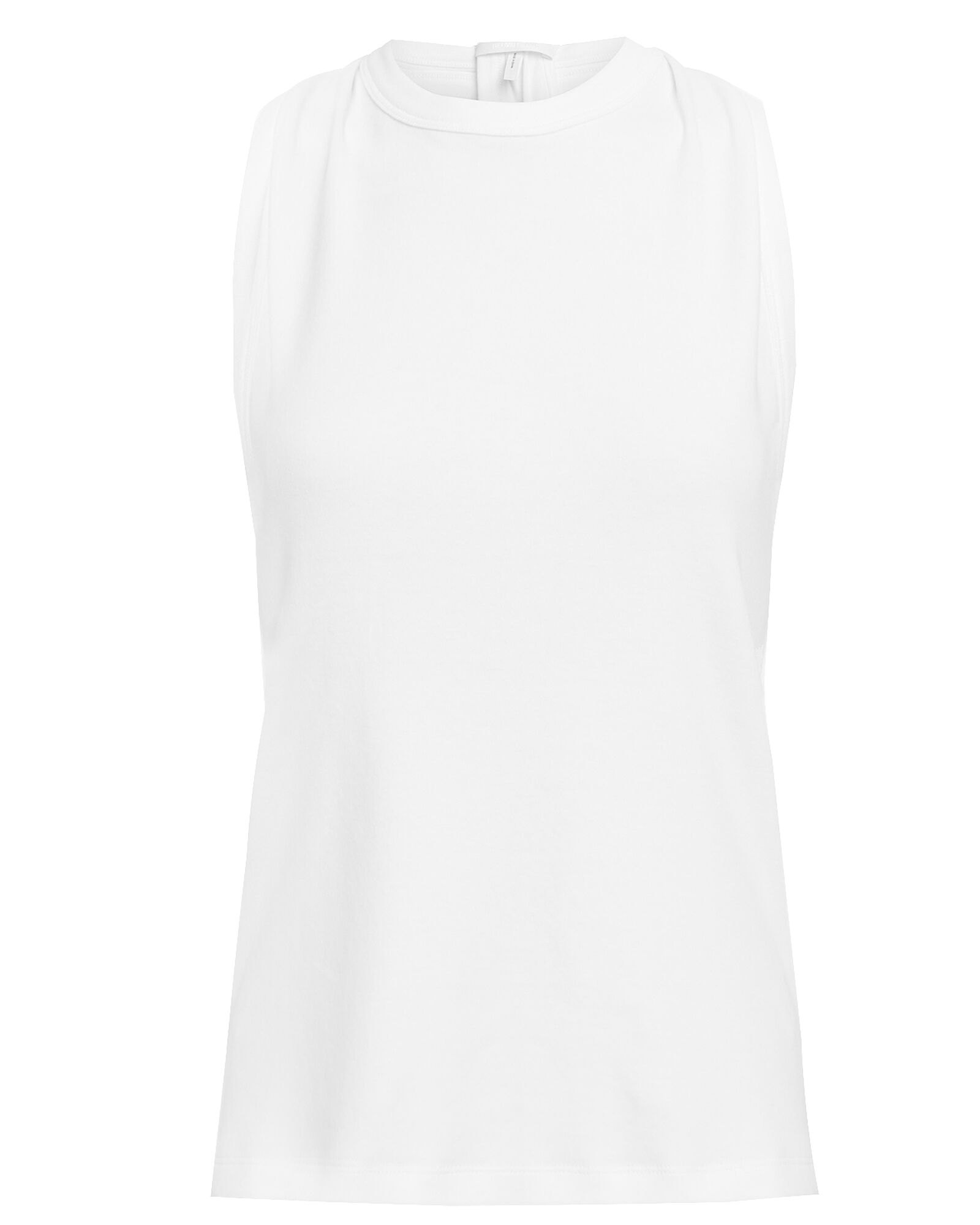 Crepe Jersey Tank Top, WHITE, hi-res