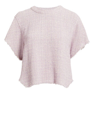 Devan Tweed Top, PURPLE-LT, hi-res