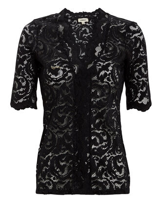 Consuelo Black Lace Top, BLACK, hi-res