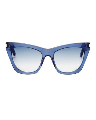 Kate Square Cat Eye Sunglasses, BLUE, hi-res