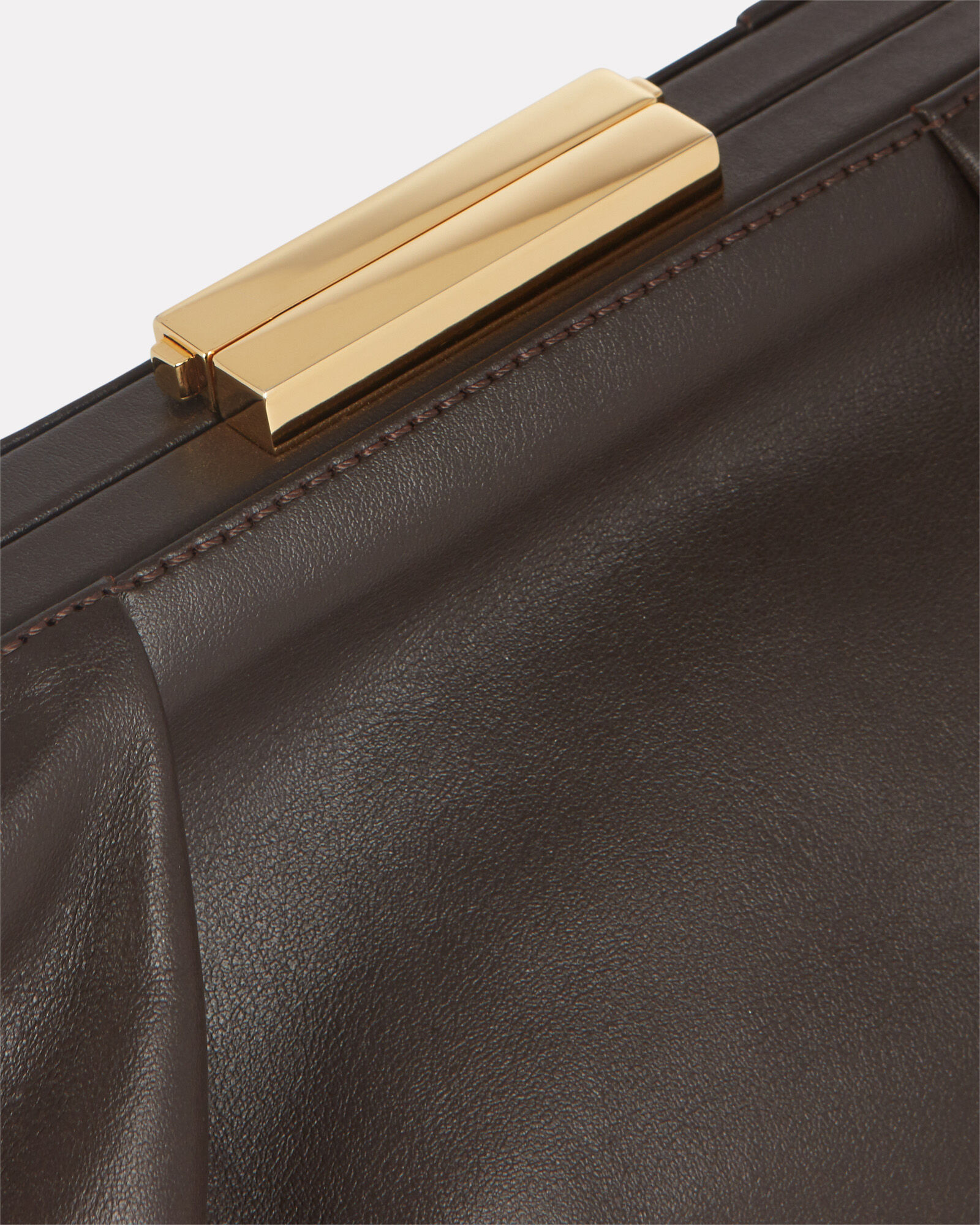 Florence Soft Leather Pouch, DARK BROWN, hi-res