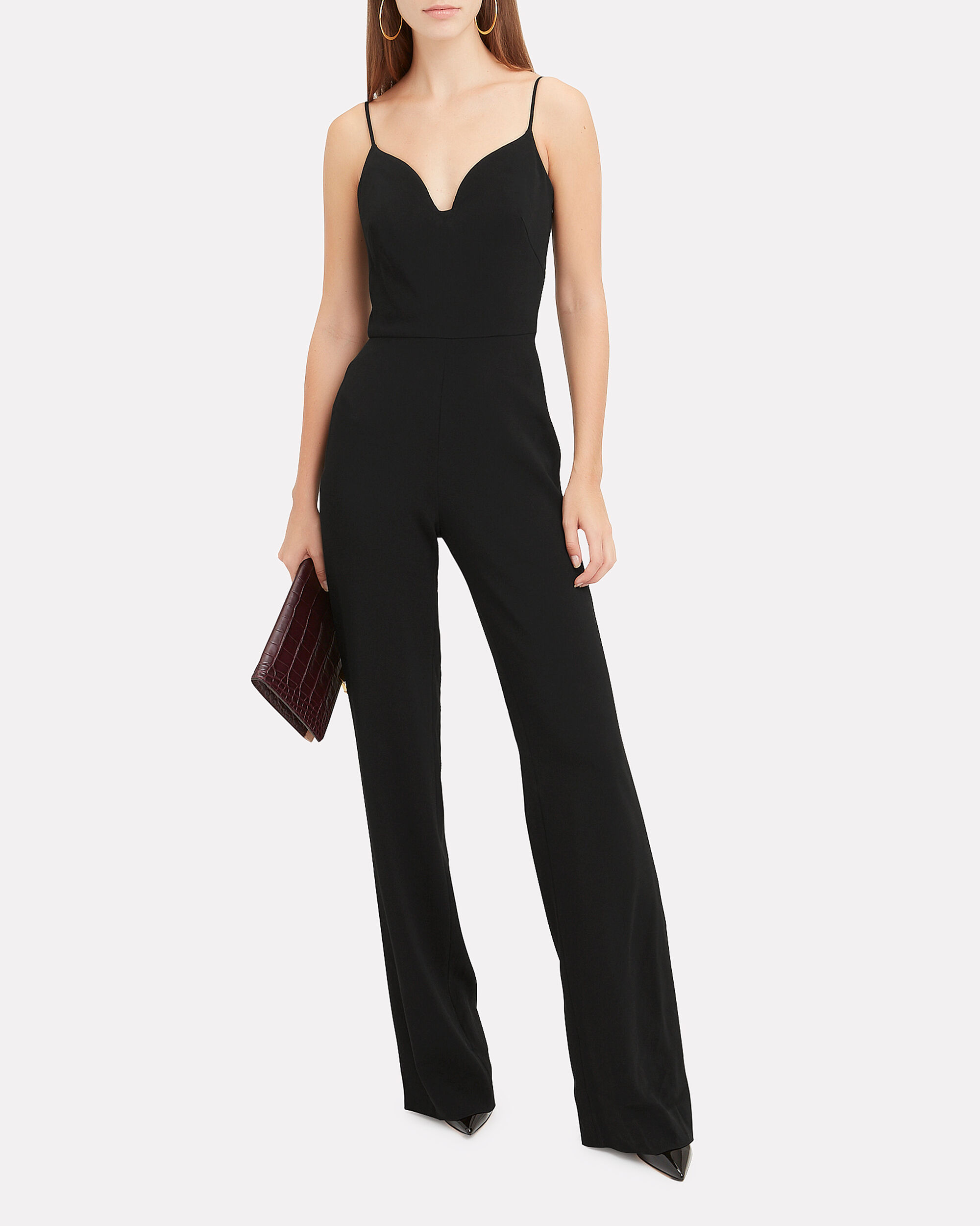 Sweetheart Neckline Jumpsuit, BLACK, hi-res