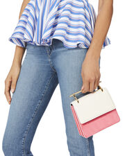 Mini Collectionneuse Ivory And Bright Pink Bag, COLORBLOCK, hi-res