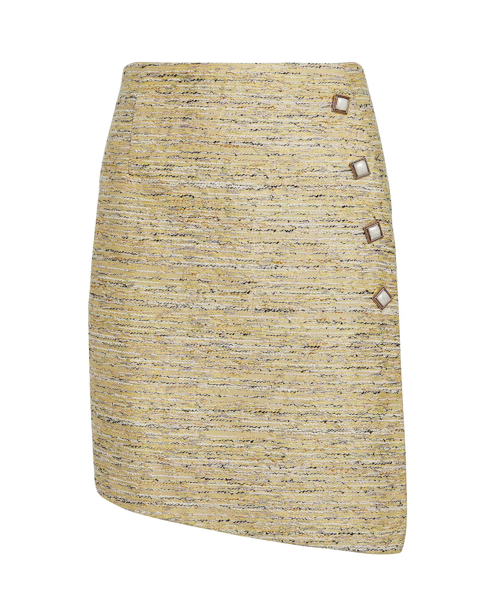 Born To Find You Tweed Skirt, CANARY YELLOW, hi-res