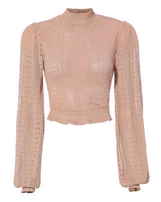Antoinette Crop Top, PINK, hi-res