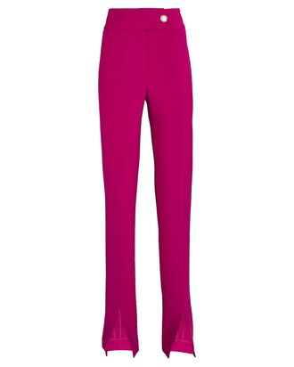 Jessamy Front Slit Trousers, PINK, hi-res