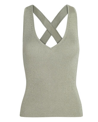 Jordan Cross Back Tank Top, GOLD, hi-res