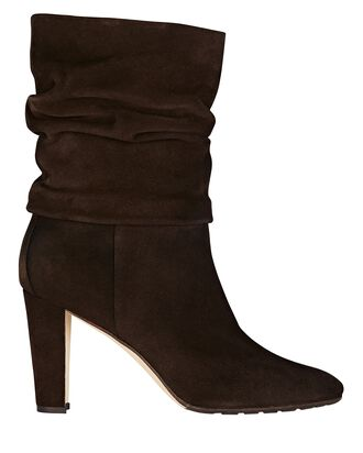 Shushan Slouch Suede Ankle Boots, BROWN, hi-res