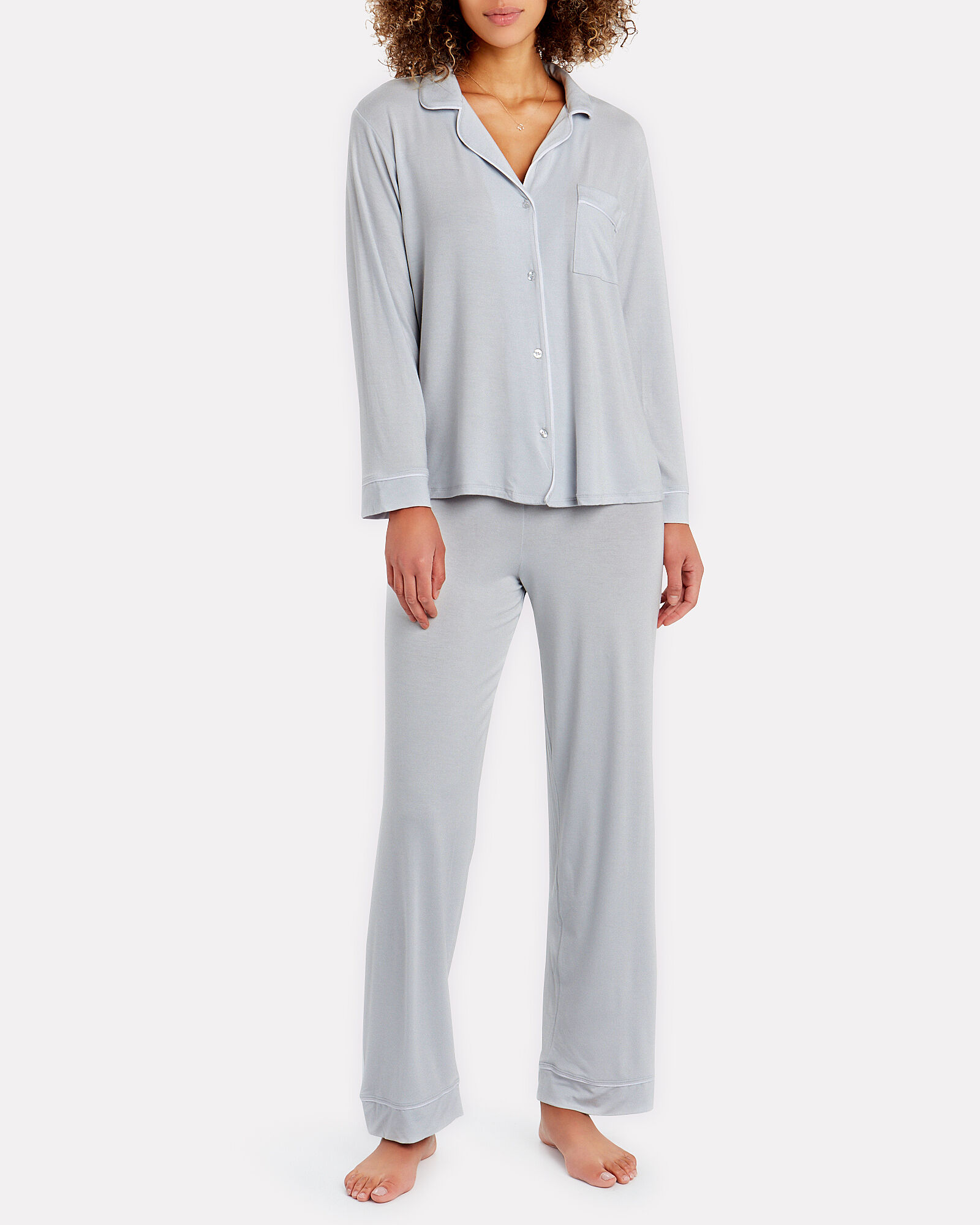 Gisele Pajama Set, PALE BLUE, hi-res